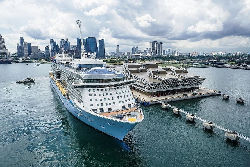 The 170,000 ton, 18-deck high Quantum of the Seas can carry up to 4,905 passengers, a 30 per cent increase in capacity for Singapore sailings.