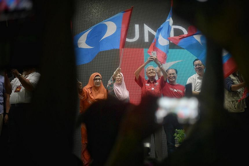 Malaysia's former prime minister Mahathir Mohamad at a rally. The veteran politician said in an interview last Friday that Chinese investment was welcome if companies set up operations in Malaysia, employed locals and brought in capital and technolog
