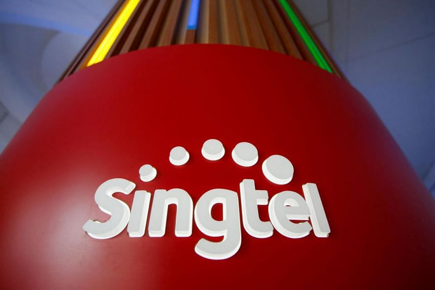 File photo showing Singtel's logo located at their head office.