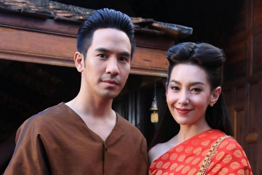 Cast members of the TV series Buppesannivas (Love Destiny), that has been a massive hit in Thailand.