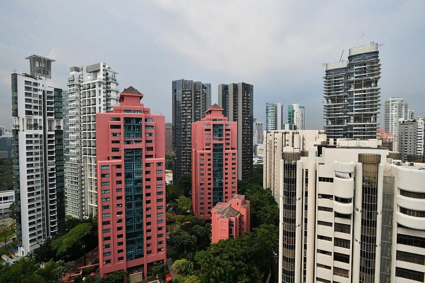 Prices for non-landed private homes rose by 1.5 per cent against February's peak.