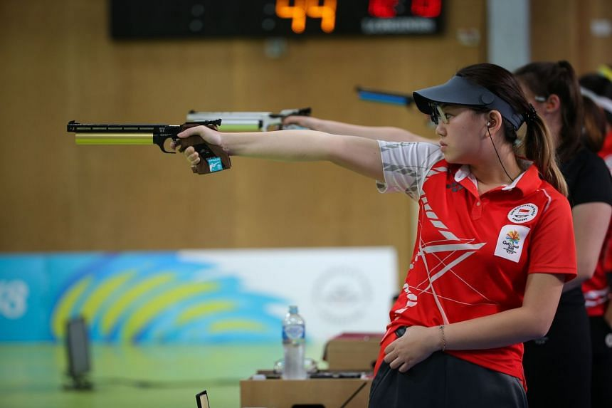 Teh Xiu Hong, 24, finished with a score of 19 and was the fourth competitor knocked out after losing to Malta's Eleanor Bezzina in a shoot-off.