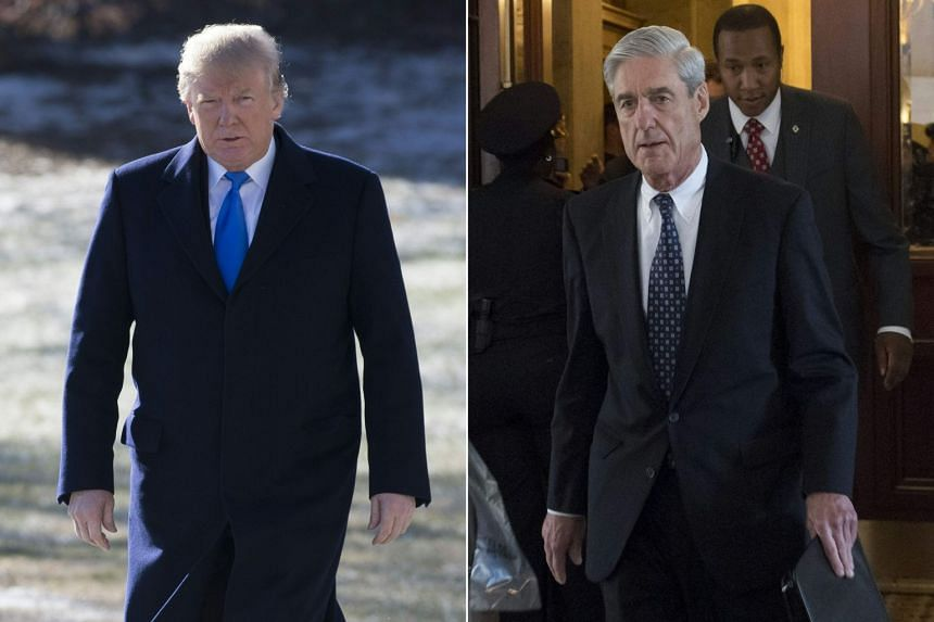 US President Donald Trump (left) was asked if he would fire Special Counsel Robert Mueller.