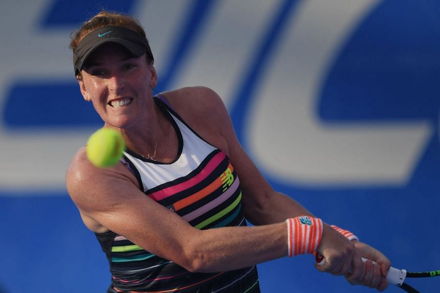 Tennis player Madison Brengle (pictured) filed a lawsuit against the WTA and ITF over injuries she says were caused by the repeated drawing of blood for doping tests.