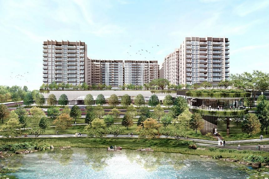 An artist's impression of The Woodleigh Residences and The Woodleigh Mall, SPH's joint venture project with Japanese developer Kajima Development. The project is expected to add to medium-term profit and SPH's longer-term recurring income.