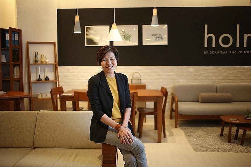 Scanteak regional marketing director Jamie Lim says overseas revenue is a major contributor to the group's coffers, accounting for at least 70 per cent. The company has 150 stores globally today, with plans for more.