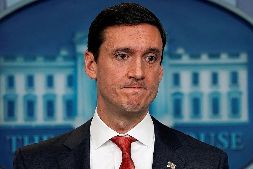 Mr Tom Bossert (left) has served in the White House since Mr Donald Trump's inauguration.