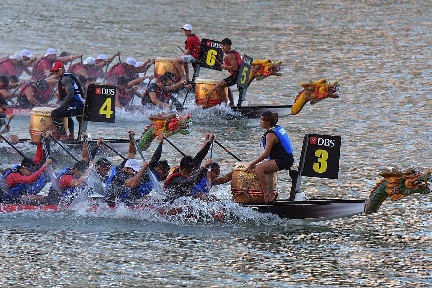 Around 80 teams from across Asia are expected to come to Singapore to take part in the international dragon boating competition at an extended DBS Marina Regatta this year. A total of $134,000 in prize money is at stake.