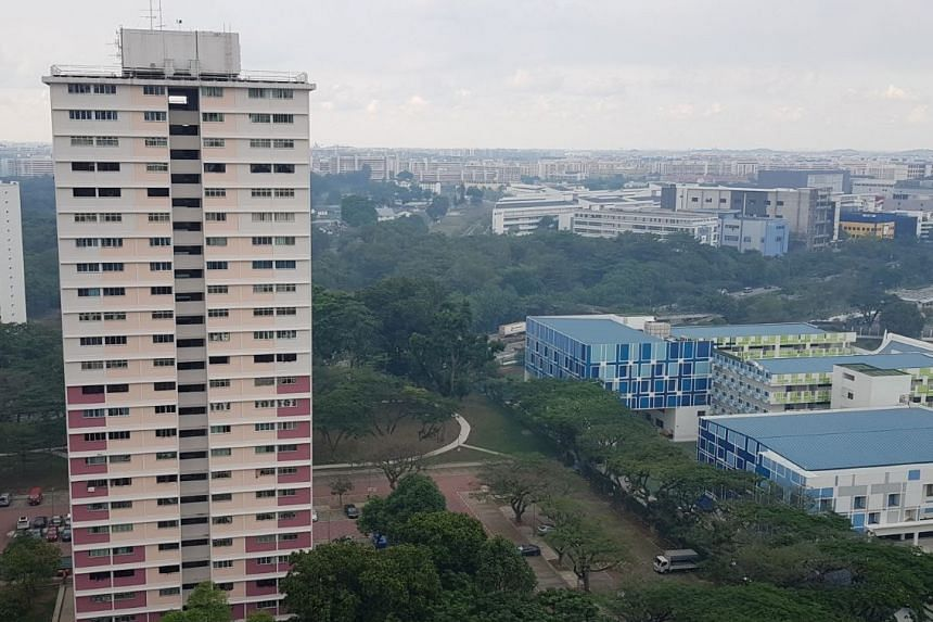 Hazy conditions in Bedok on April 11, 2018.