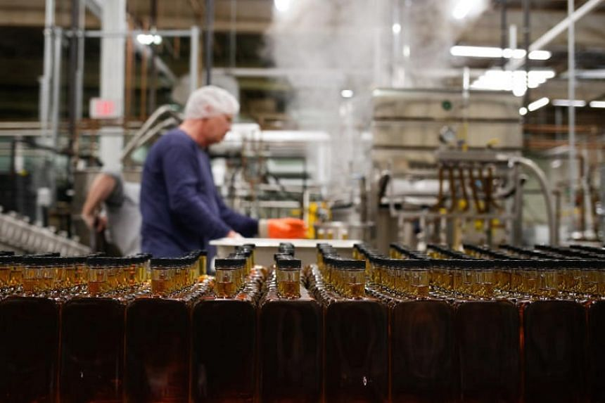 Bottles await labelling, packing and distribution at the Maple Guild.