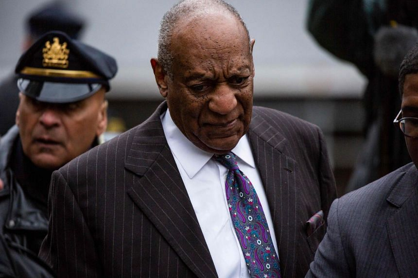Actor and comedian Bill Cosby seen outside the courthouse after the first day of his retrial for his sexual assault case, on April 9, 2018.