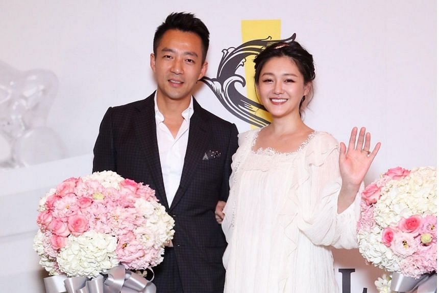 Actress Barbie Hsu and her husband, businessman Wang Xiaofei, at the opening of S Hotel in Taipei on June13, 2017.
