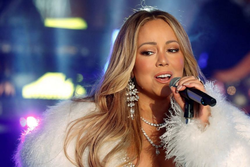 Mariah Carey performing during New Year's eve celebrations in New York in 2017.