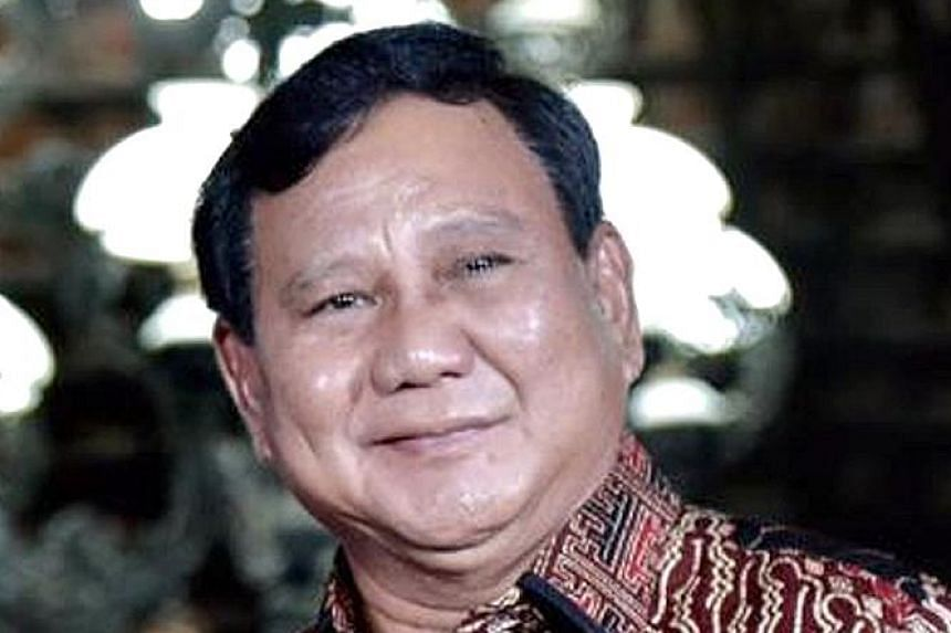 Former army general Prabowo Subianto's candidacy was widely anticipated.