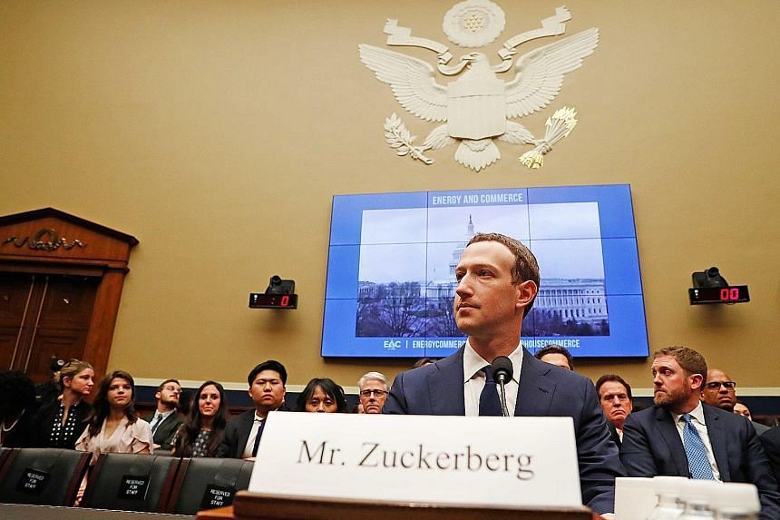 Facebook CEO Mark Zuckerberg testifying before the US House of Representatives Energy and Commerce Committee in Washington on his second day of hearings yesterday. He was respectful and contrite at both hearings, taking full responsibility for Facebo