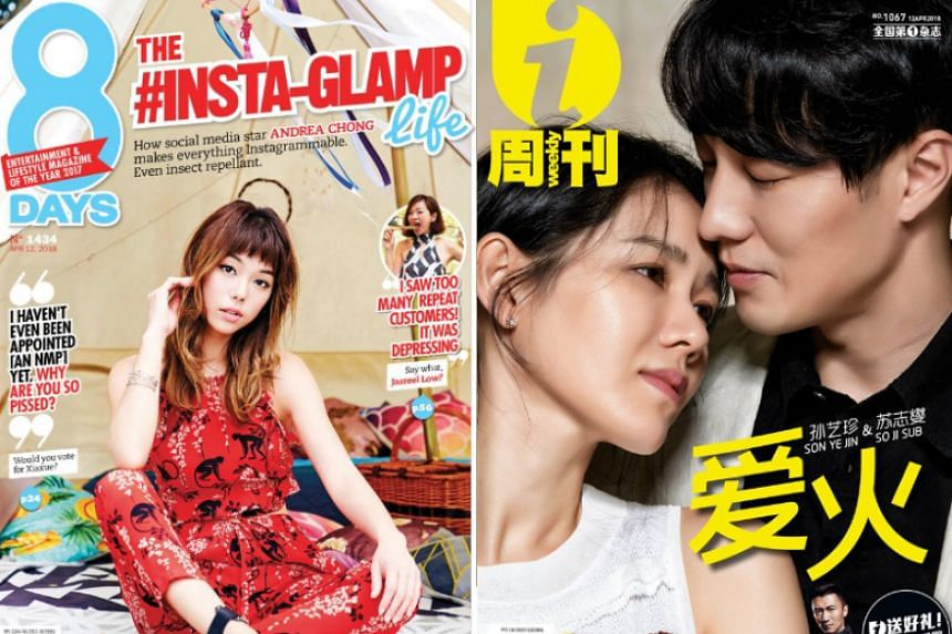 Local entertainment magazines 8 Days and i-Weekly, published by Mediacorp, are set to go online only and will publish their last print editions in September.