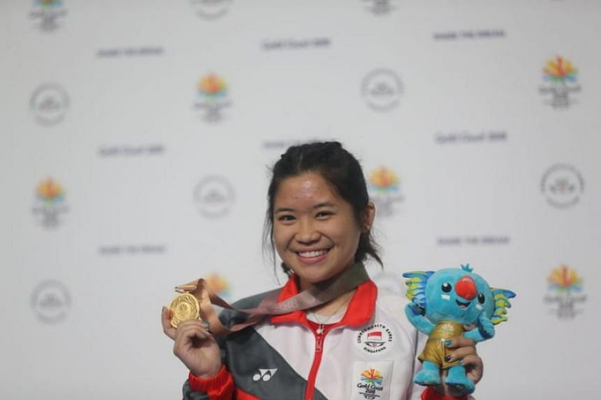 Singapore shooter Marina Veloso won her second gold medal at the Gold Coast Commonwealth Games on April 12, 2018. She finished with a score of 621.0 in the women's 50m rifle prone at the Belmont Shooting Centre.