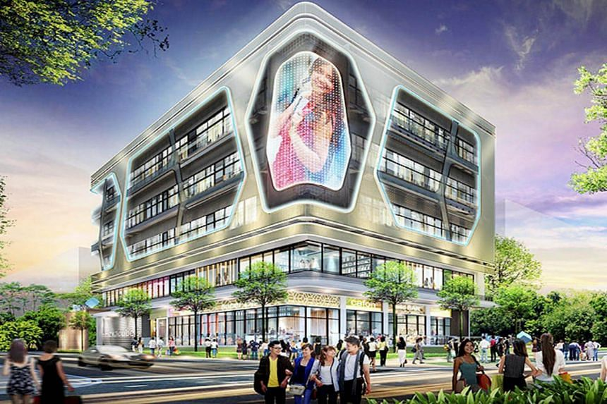 An artist's impression of Hexacube, a commercial property located at 160 Changi Road.