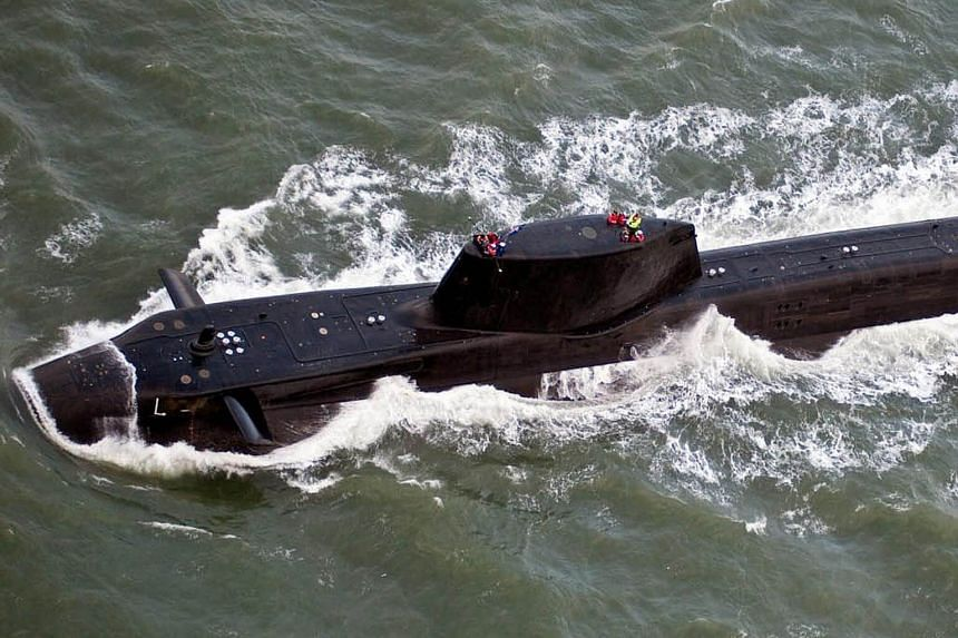 The British Royal Navy submarine HMS Astute leaving Barrow-in-Furness for sea trials on Nov 15, 2009. British Prime Minister Theresa May has ordered British Royal Navy submarines to move within missile range of Syria.