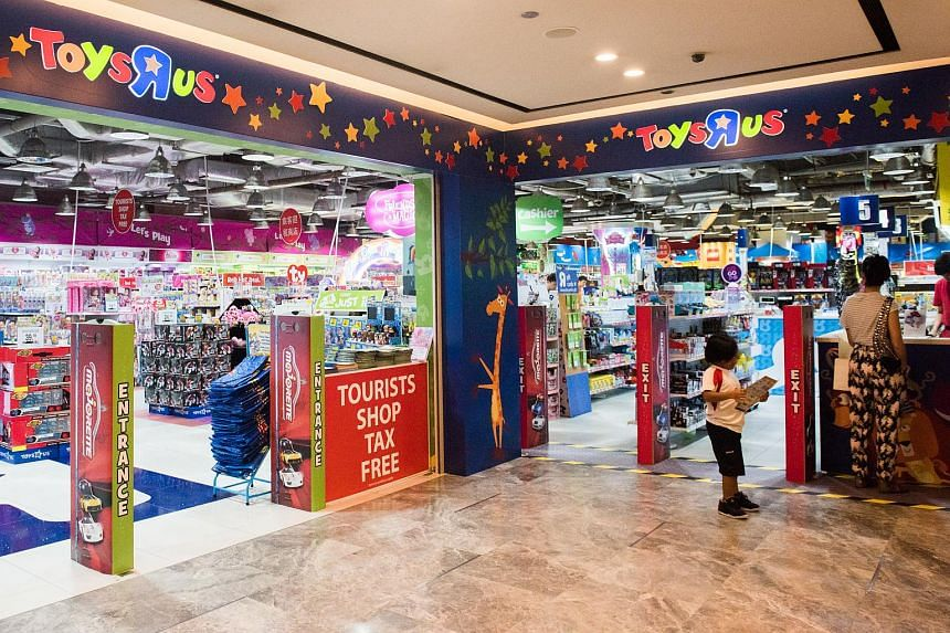 The Toys 'R' Us store at The Paragon shopping mall in Singapore.