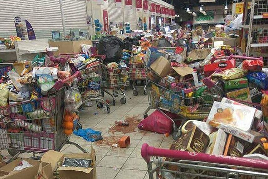 One of the photographs posted on social media yesterday showing dozens of trolleys heaped with goods abandoned at the Aeon Tebrau supermarket, after a grocery shopping spree paid for by Johor Crown Prince Tunku Ismail Sultan Ibrahim the previous nigh