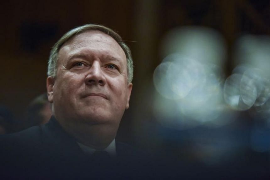 CIA director Mike Pompeo at his confirmation hearing with the Senate Foreign Relations Committe on April 12, 2018.