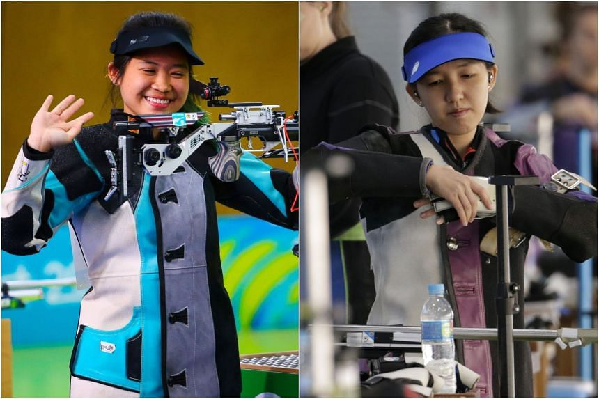 Martina Veloso (left) finished fourth while Jasmine Ser was sixth in the women's 50m rifle three-positions final.