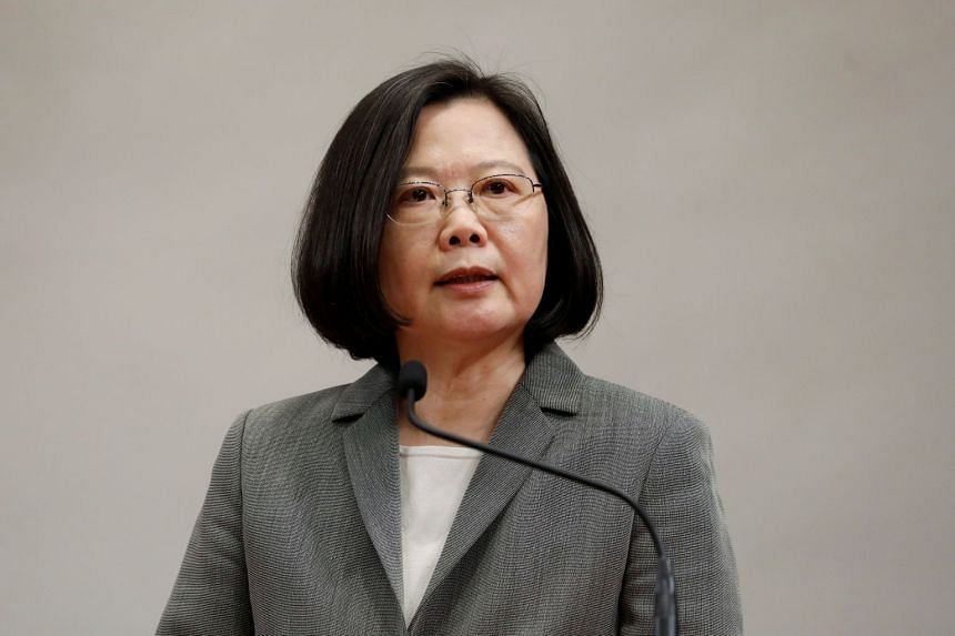 """Taiwan's President Tsai Ing-wen has warned against what she called Beijing's """"military expansion"""" - the increase in Chinese air and naval drills around the island since she took office in May 2016."""