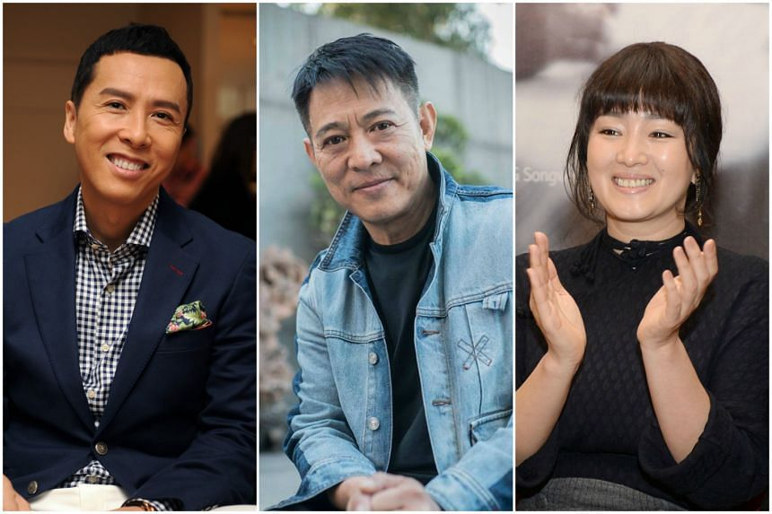 (From left) Top stars Donnie Yen, Jet Li and Gong Li have been cast in Disney's highly anticipated live-action version of Mulan, slated for release in 2020.