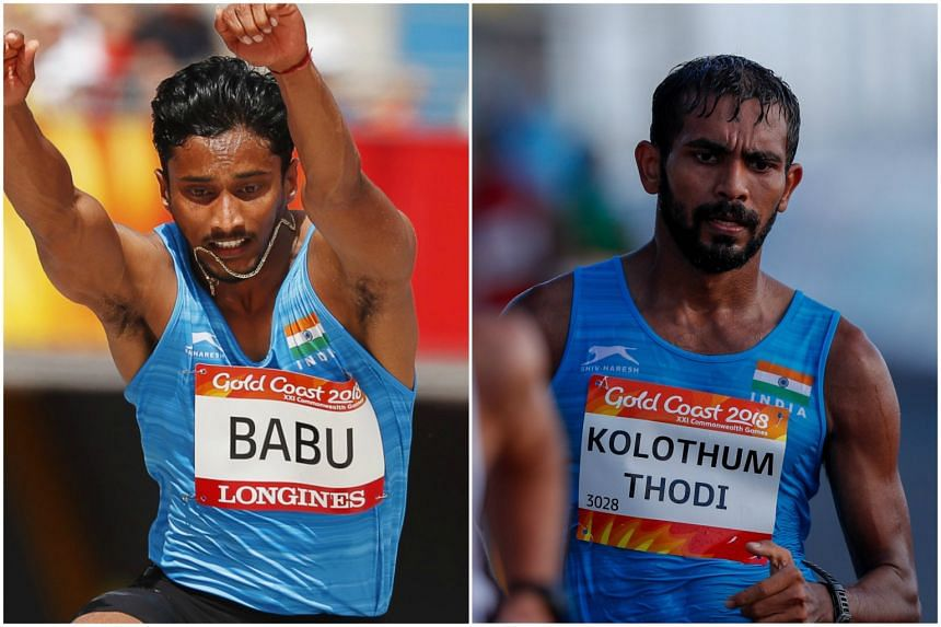 Indian athletes Rakesh Babu (left) and Irfan Kolothum Thodi are being sent home from the Gold Coast Commonwealth Games after a needle was found in a cup in their bedroom at the Athletes' Village on April 13, 2018.