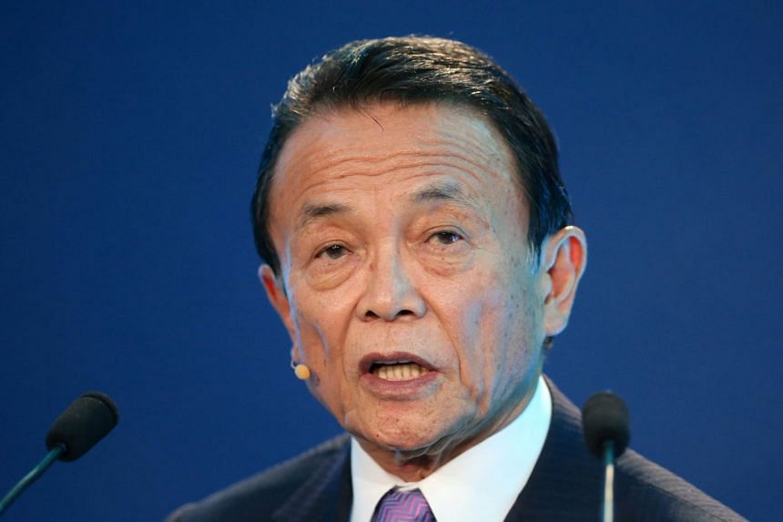 Japanese Finance Minister Taro Aso (pictured) said he expected Prime Minister Shinzo Abe and US President Trump to discuss the TPP at their summit meeting next week.