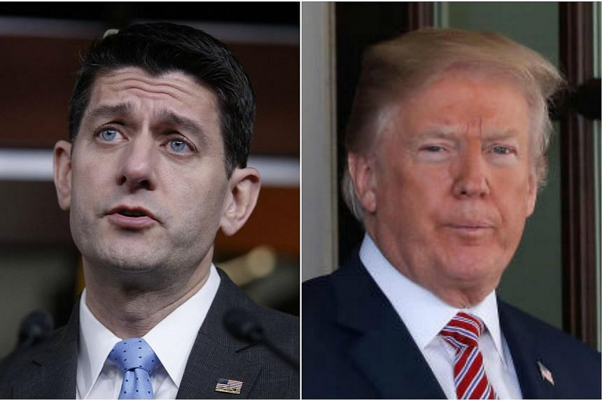 US House Speaker Paul Ryan (left) and US President Donald Trump. Mr Ryan and other prominent pro-trade, inclusive lawmakers warned against Mr Trump's trade war threats, but their concerns appear to have been swept aside.