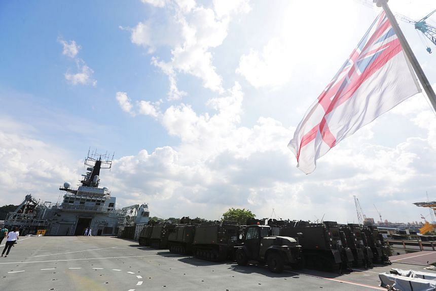 HMS Albion will be in Singapore until early next week and in Asia-Pacific throughout this year. It is due to visit several ports and take part in joint training with allies and partners while in the region.