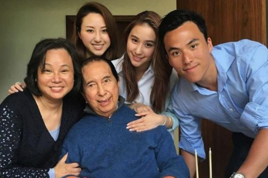 """Macau gambling king Stanley Ho with his family. Dr Ho first married in 1942, but has subsequently had three other partners, though it is unclear whether or not he married all the women he called """"wives""""."""