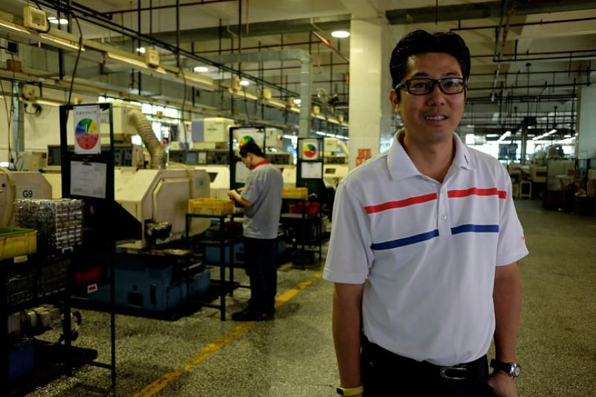 Allan Chau, general manager of Tien Po International, poses inside a factory in Dongguan, China on April 10, 2018.