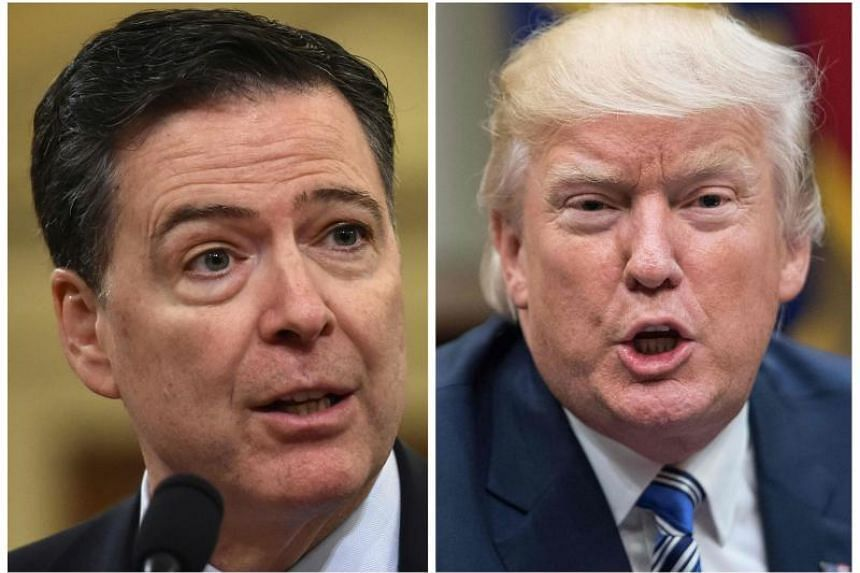 In his book, former FBI director James Comey (left) said US President Donald Trump reminded him of a mafia boss who demanded absolute loyalty, saw the entire world against him and lied about everything.