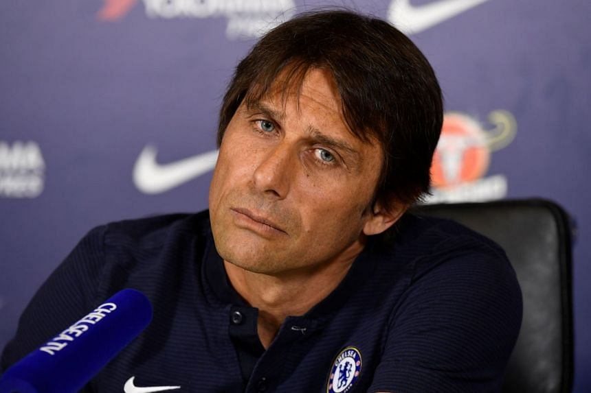 Chelsea manager Antonio Conte during a press conference.