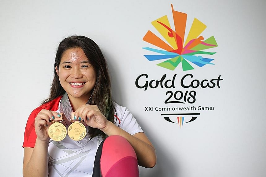 Martina Veloso with her two Commonwealth Games gold medals, which she wants engraved with the events and her name.