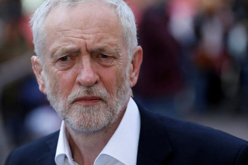 """British opposition Labour Party leader Jeremy Corbyn said, """"Bombs won't save lives or bring about peace. This legally questionable action risks escalating further."""""""