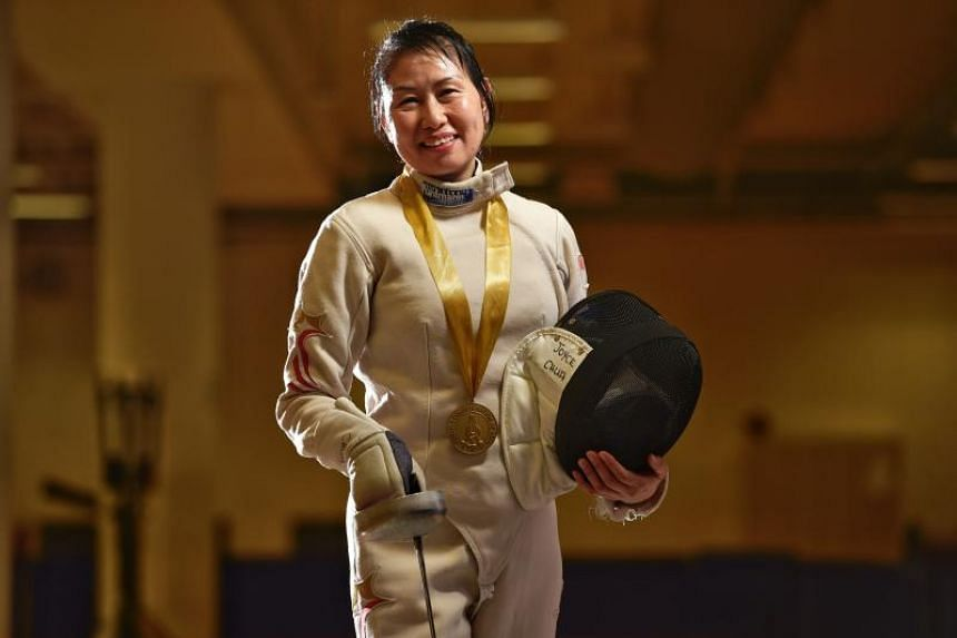 Joyce Chua trains two to three times a week, for at least two hours per session. She puts herself through footwork drills and sparring sessions with a partner.