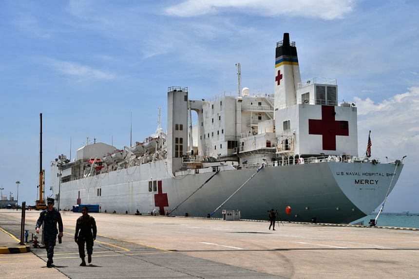 The USNS Mercy is currently moored at Changi Naval Base for a supply stop as it goes on a humanitarian mission in the region.
