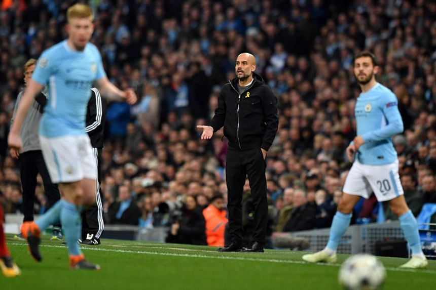 Manchester City have a 13-point lead over second-placed Manchester United with six league games left but have been jolted by a run of three straight defeats in all competitions.