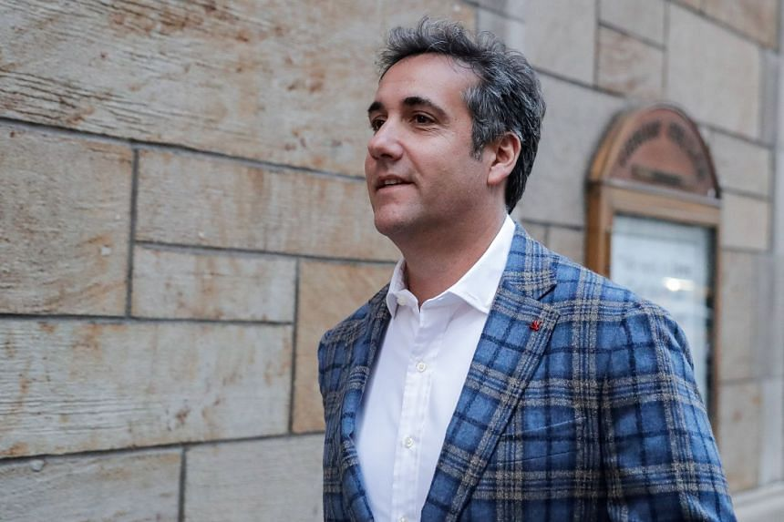 US President Donald Trump's personal lawyer Michael Cohen leaving a hotel in New York City, on April 13, 2018.