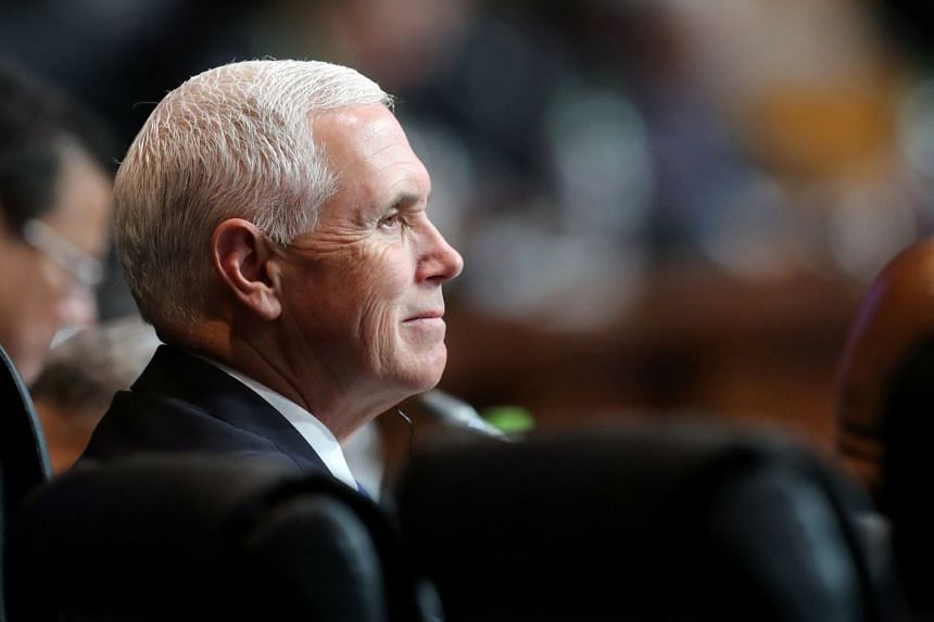 Pence participates in the opening session of the Americas Summit in Lima, Peru.