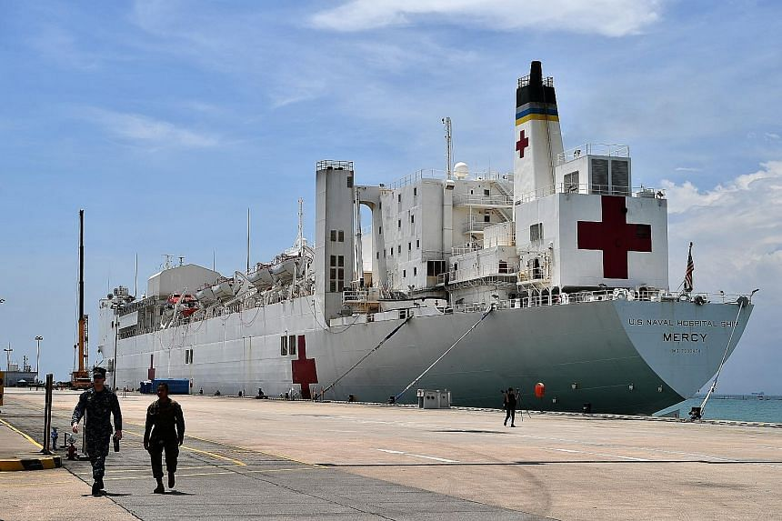 The USNS Mercy first came to this region to render aid when the 2004 tsunami struck, and has since been making annual trips to work with countries to better prepare for disaster response situations.