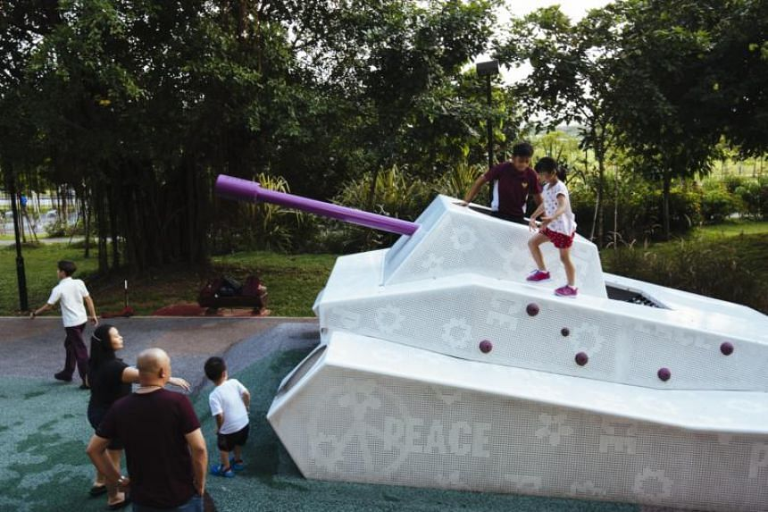 To date, six such playgrounds have been completed, in towns like Chua Chu Kang, Woodlands, Sembawang, Sengkang and Toa Payoh.