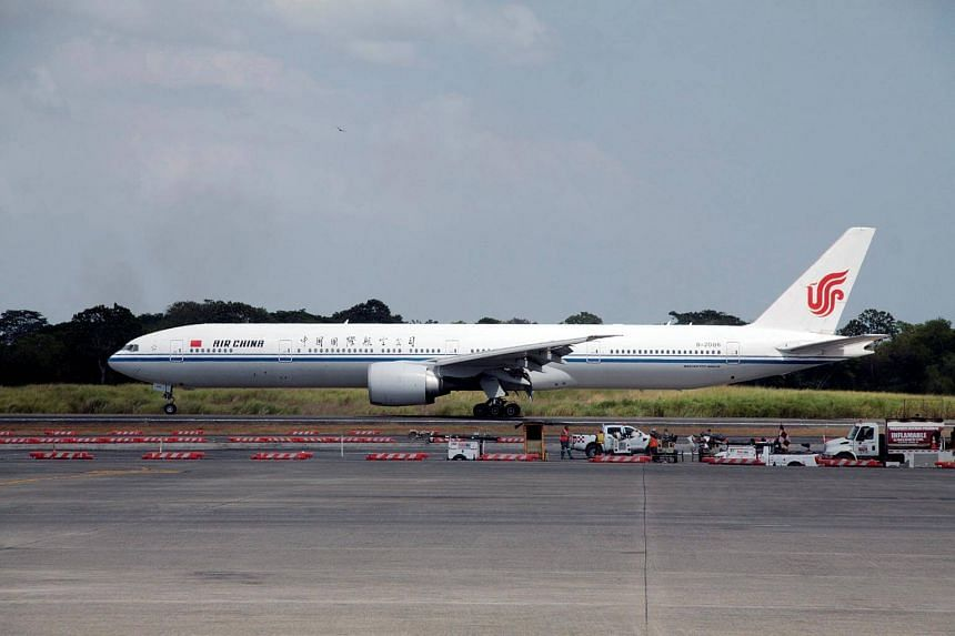 File photo showing an Air China plane on the tarmac at Tocumen International airport in Panama City.