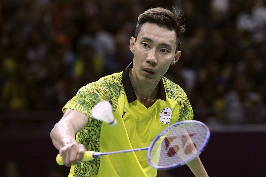 Lee Chong Wei of Malaysia in action during the finals match at the 2018 Commonwealth Games in Gold Coast, Australia, on April 15.