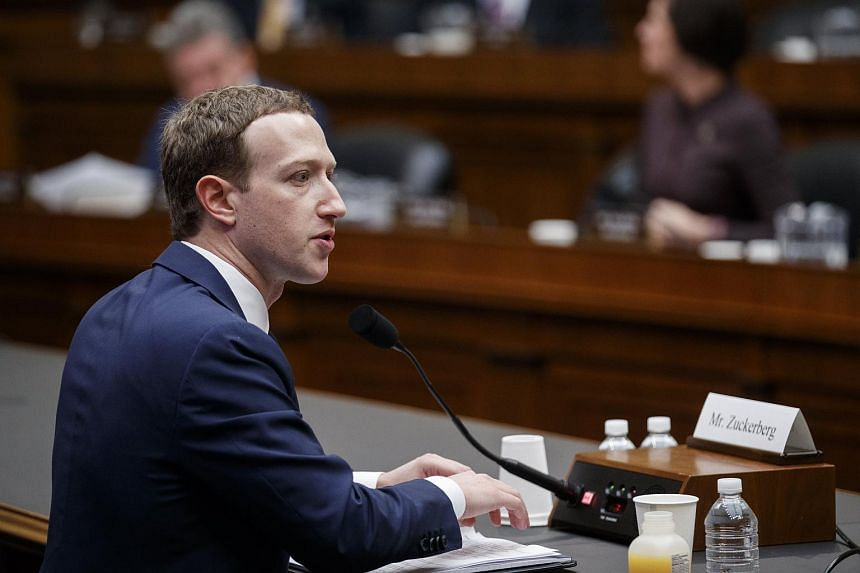 Facebook CEO Mark Zuckerberg testifying before the House Energy and Commerce Committee on Capitol Hill in Washington, DC, on April 11, 2018.