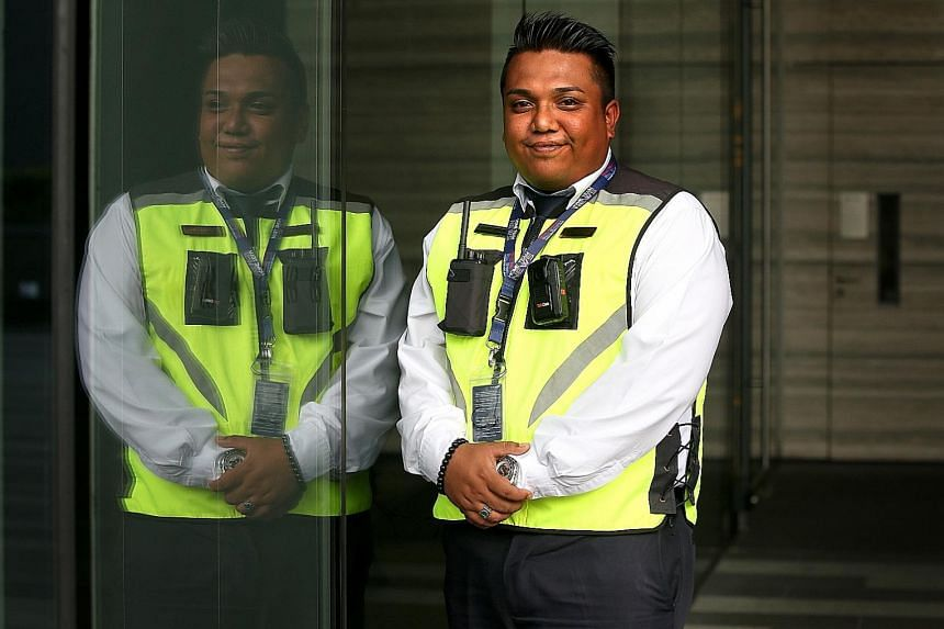 Senior security supervisor Nizar Jazli, who is stationed at Metropolis business centre near Buona Vista MRT station, says fewer drivers argue with him when he tells them to move their cars since he started wearing a body camera.